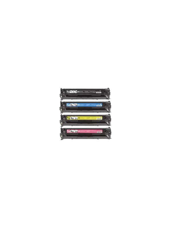 Pack (4 colores) HP Toner Cp1525n Cp1525nw 1521n 1522n 1523n 1526nw 1527nw 1528nw Cm1415fn - Pack de 4 cartuchos ALTA CAPACIDAD de Toner Compatible - Reciclado (4 colores) CE320A CE321A CE322A CE323A. Para impresoras HP Cp1525n Cp1525nw 1521n 1522n 1523n 1526nw 1527nw 1528nw Cm1415fn