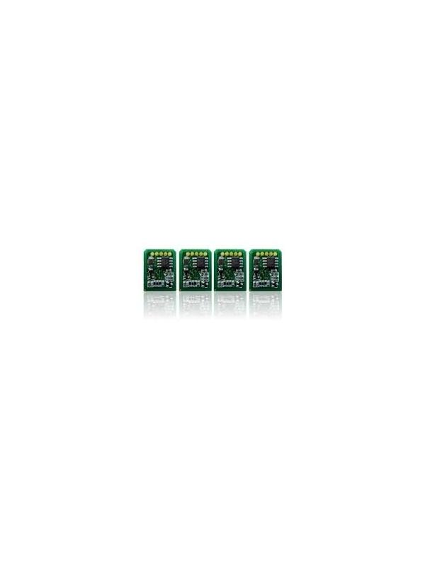 Pack Chip Cartuchos Toner OKI C9655 4 Colores Black / Cyan / Yellow / Magenta - Pack de 4 Chips para Cartuchos de Toner Compatibles con las impresoras OKI C9655 de 15.000 paginas   Este pack, contiene 4 Chips para el cartucho Negro / Azul / Amarillo / Magenta de fabricación Europea