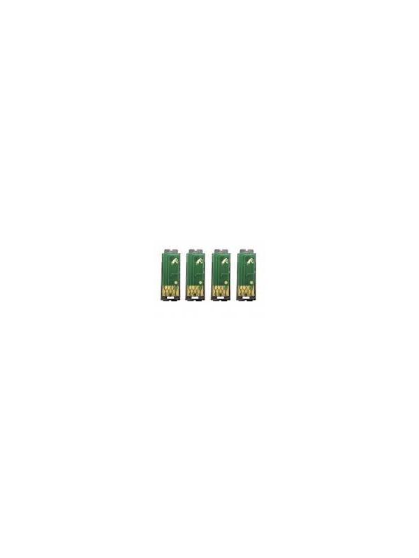 Pack Chip para Cartuchos de Toner OKI c5650 / c5750 4 Colores Black / Cyan / Yellow / Magenta - Pack de 4 Chips para Cartuchos de Toner Compatibles con las impresoras OKI c5650 / c5750 de 2.000 paginas para los colores y 8.000 paginas para el negro. Este pack, contiene Chips para el cartucho Negro / Azul / Amarillo / Magenta de fabricación Europea