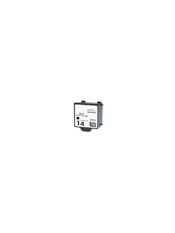 HP 14 C5011DE Black remanufacturado - Cartucho de tinta HP 14 C5011DE Black remanufacturado. Capacidad 30 ml. Compatible con COLOR INKJET CP 1160 DIGITAL COPIER 610 OFFICEJET 7110 OFFICEJET 7115 OFFICEJET 7130 OFFICEJET 7135 OFFICEJET 7140 OFFICEJET D 125XI OFFICEJET D 135 OFFICEJET D 145 OFFICEJET D 155XI