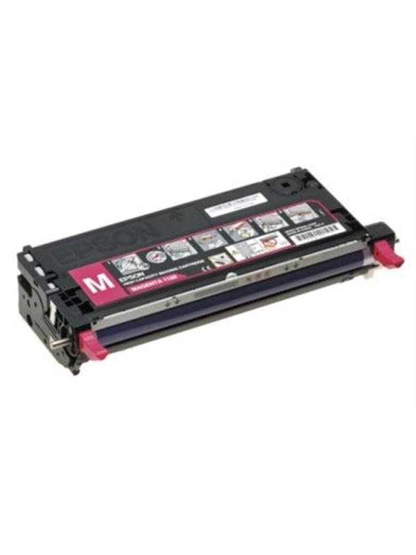 C13S051163 Epson aculaser c2800 MAGENTA - C13S051163 Cartucho remanufacturado alta capacidad 6.000 páginas con una cobertura por página de 5%. Cartucho toner compatible con impresoras Epson Aculaser C2800