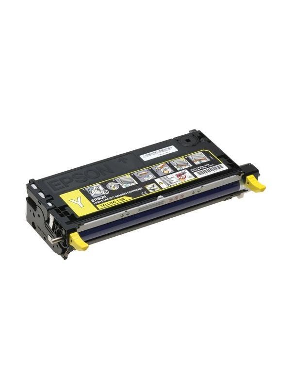 C13S051162 Epson aculaser c2800 YELLOW - C13S051162 Cartucho remanufacturado alta capacidad 6.000 páginas con una cobertura por página de 5%. Cartucho toner compatible con impresoras Epson Aculaser C2800