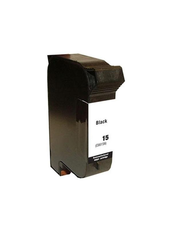 HP 15 (6615BK) remanufacturado - Cartucho de tinta remanufacturado. Capacidad 30 ml. Compatible con HP Deskjet920c/948c/810c/840c/845c/3820;HP PSC750/950/500;HP Officejetv40/5110