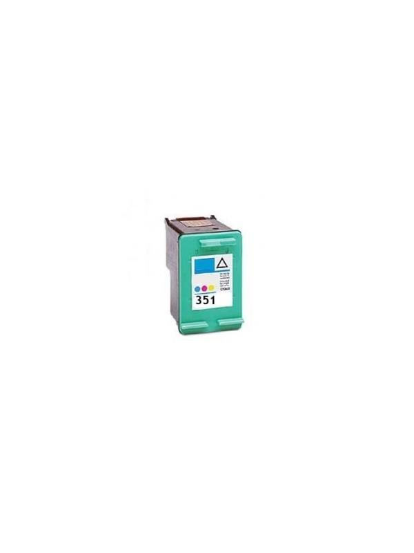 HP 351XL (CB338E) remanufacturado - Cartucho de tinta remanufacturado. Capacidad 3X6 ml. Compatible con Photosmart C4280/D5360/D4260/C5280/C5283; Officejet J6140