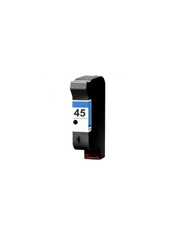 HP 45 (51645BK) remanufacturado - Cartucho de tinta remanufacturado. Capacidad 38 ml. Compatible con Hp DeskJet 710C/870Cxi / 830C/880C/890C /895Cxi/930C/ 950C/930C/ 950CPhoto/ 970Cxi/990Cxi/