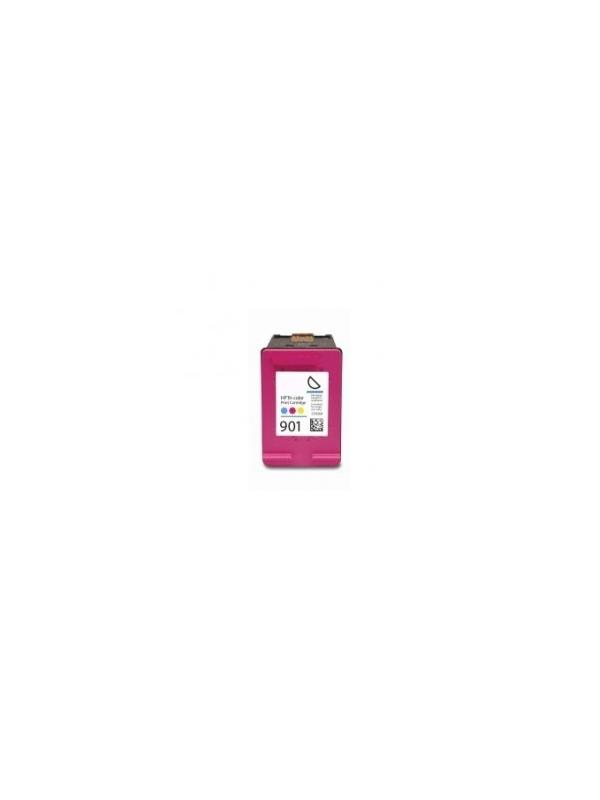 HP 901XL color (CC656AE) remanufacturado - Cartucho de tinta remanufacturado. Capacidad 18 ml. Compatible con OfficeJet J4524/Officejet J4580