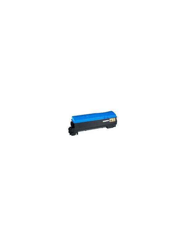 TK-550C KYOCERA-MITA FS-C5200 DNF CYAN - Cartucho reciclado - compatible alta capacidad 6.000 páginas con una cobertura por página de 5%. Cartucho toner compatible con KYOCERA-MITA FS-C5200 DNF