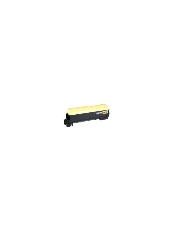 TK-550Y KYOCERA-MITA FS-C5200 DNF YELLOW - Cartucho reciclado - compatible alta capacidad 6.000 páginas con una cobertura por página de 5%. Cartucho toner compatible con KYOCERA-MITA FS-C5200 DNF