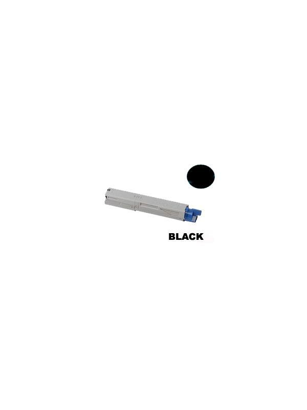 OKI c3450 BLACK - Producto fabricado en la Unión Europea.  El material utilizado para la fabricación de este cartucho, es de la marca Mitsubishi y tiene una excelente calidad de impresión. Se garantiza la durabilidad y protección tanto de la impresora como del tambor (Drum) Este producto tiene una garantía total de 2 años.   Cartucho remanufacturado alta capacidad 2.500 páginas con una cobertura por página de 5%. Cartucho toner compatible con impresoras OKI c3450.