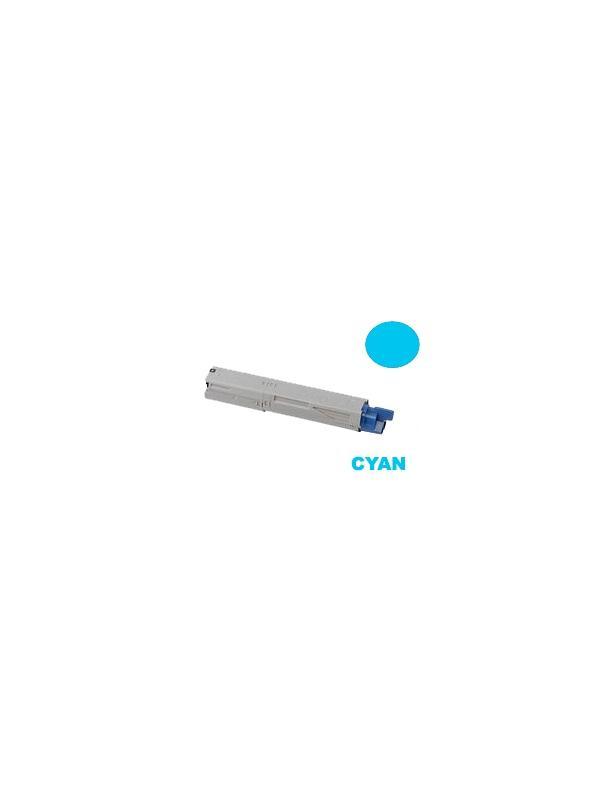 OKI MC350 MC360 CYAN - Producto fabricado en la Unión Europea.  El material utilizado para la fabricación de este cartucho, es de la marca Mitsubishi y tiene una excelente calidad de impresión. Se garantiza la durabilidad y protección tanto de la impresora como del tambor (Drum) Este producto tiene una garantía total de 2 años.   Cartucho remanufacturado alta capacidad 2.500 páginas con una cobertura por página de 5%. Cartucho toner compatible con impresoras OKI MC350 MC360