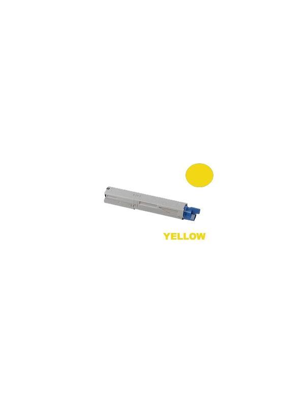 OKI MC350 MC360 YELLOW - Producto fabricado en la Unión Europea.  El material utilizado para la fabricación de este cartucho, es de la marca Mitsubishi y tiene una excelente calidad de impresión. Se garantiza la durabilidad y protección tanto de la impresora como del tambor (Drum) Este producto tiene una garantía total de 2 años.   Cartucho remanufacturado alta capacidad 2.500 páginas con una cobertura por página de 5%. Cartucho toner compatible con impresoras OKI MC350 MC360
