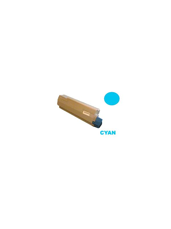 OKI c5650 c5750 CYAN - Producto fabricado en la Unión Europea.  El material utilizado para la fabricación de este cartucho, es de la marca Mitsubishi y tiene una excelente calidad de impresión. Se garantiza la durabilidad y protección tanto de la impresora como del tambor (Drum) Este producto tiene una garantía total de 2 años.   Cartucho remanufacturado alta capacidad 2.000 páginas con una cobertura por página de 5%. Cartucho toner compatible con la ref 43872307. Calidad de impresión excelente. Toner OKI c5650 c5750