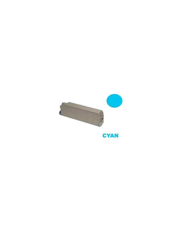OKI C9100 / C9200 / C9300 / C9350 / C9400 / C9500 CYAN - Producto fabricado en la Unión Europea.  El material utilizado para la fabricación de este cartucho, es de la marca Mitsubishi y tiene una excelente calidad de impresión. Se garantiza la durabilidad y protección tanto de la impresora como del tambor (Drum) Este producto tiene una garantía total de 2 años.   Cartucho remanufacturado alta capacidad 15.000 páginas con una cobertura por página de 5%.  Cartucho toner compatible con la ref 41963607 y ref 41515211