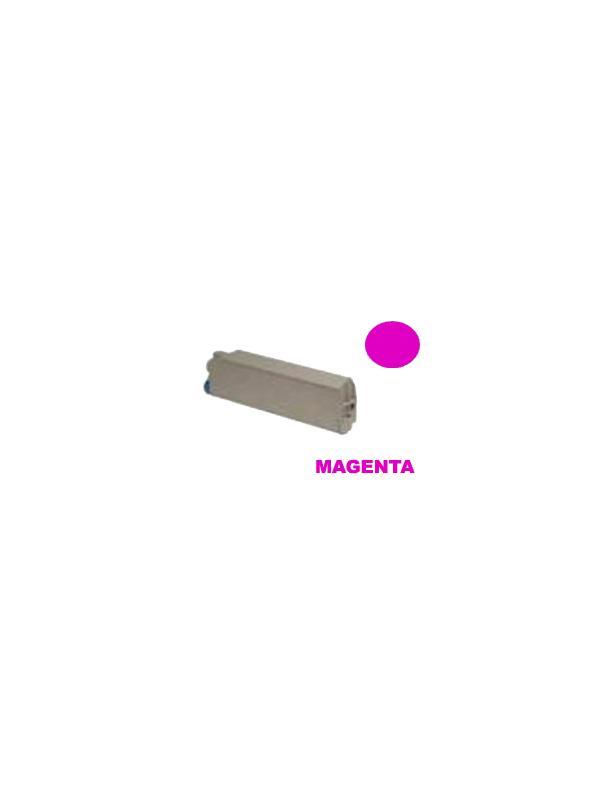 OKI C9100 / C9200 / C9300 / C9350 / C9400 / C9500 MAGENTA - Producto fabricado en la Unión Europea.  El material utilizado para la fabricación de este cartucho, es de la marca Mitsubishi y tiene una excelente calidad de impresión. Se garantiza la durabilidad y protección tanto de la impresora como del tambor (Drum) Este producto tiene una garantía total de 2 años.   Cartucho remanufacturado alta capacidad 15.000 páginas con una cobertura por página de 5%.  Cartucho toner compatible con la ref 41515210 y ref 41963606