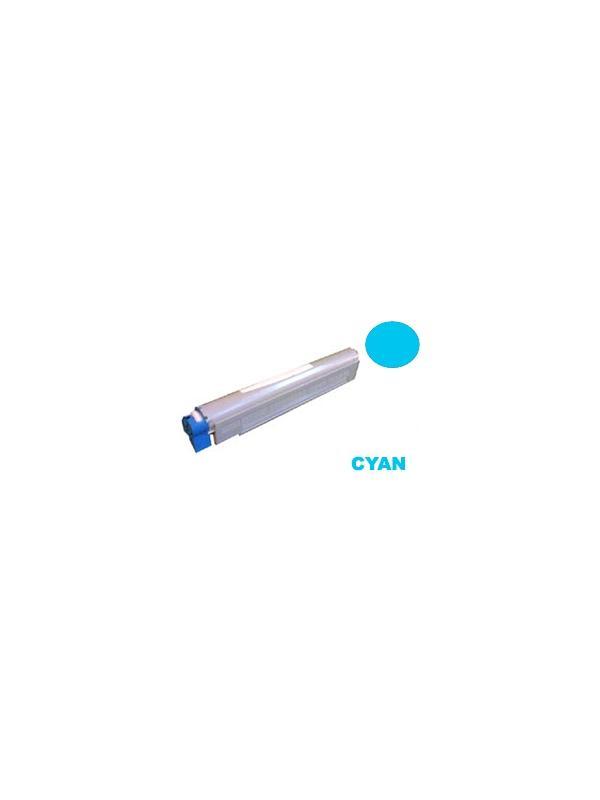 OKI c920 CYAN - Producto fabricado en la Unión Europea.  El material utilizado para la fabricación de este cartucho, es de la marca Mitsubishi y tiene una excelente calidad de impresión. Se garantiza la durabilidad y protección tanto de la impresora como del tambor (Drum) Este producto tiene una garantía total de 2 años.   Cartucho remanufacturado alta capacidad 15.000 páginas con una cobertura por página de 5%. Cartucho toner compatible con impresoras OKI c920 CYAN