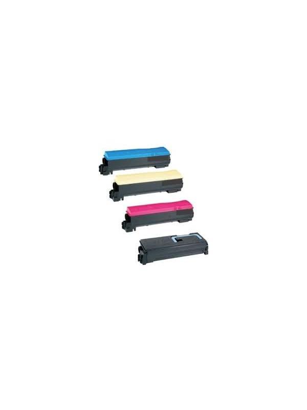 PACK (4 cartuchos) TK-570BCYM KYOCERA-MITA FS C5400 DN B/C/Y/M - Pack de 4 cartuchos reciclados Black/ Cyan/ Yellow/ Magenta - compatibles de alta capacidad .Cartuchos compatibles con KYOCERA-MITA FS C5400 DN