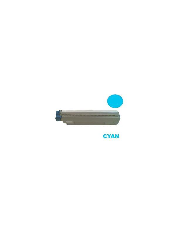44059167 OKI MC851 CYAN - Producto fabricado en la Unión Europea.  El material utilizado para la fabricación de este cartucho, es de la marca Mitsubishi y tiene una excelente calidad de impresión. Se garantiza la durabilidad y protección tanto de la impresora como del tambor (Drum) Este producto tiene una garantía total de 2 años.   Cartucho remanufacturado alta capacidad 7.300 páginas con una cobertura por página de 5%. Para impresoras OKI MC851. Cartucho toner compatible con 44059167 OKI MC851 CYAN