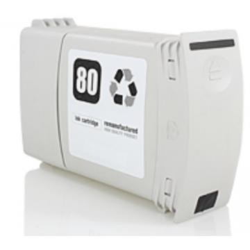 (C4871A)  HP 80 NEGRO Remanufacturado - (C4871A)  HP 80 BK  remanufacturado. Cartucho de tinta remanufacturado. Capacidad 400 ml. Compatible con HP DesignJet 1050C DesignJet 1055CM