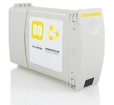 (C4848A)  HP 80 MARILLO Remanufacturado - (C4848A)  HP 80 MARILLO Remanufacturado . Cartucho de tinta remanufacturado. Capacidad 400 ml. Compatible con HP DesignJet 1050C DesignJet 1055CM