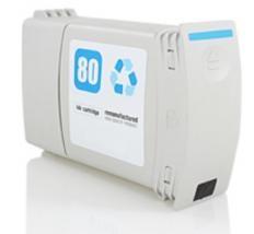(C4846A)  HP 80 CIAN Remanufacturado - (C4846A)  HP 80 CIAN Remanufacturado . Cartucho de tinta remanufacturado. Capacidad 400 ml. Compatible con HP DesignJet 1050C DesignJet 1055CM