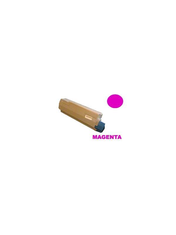 OKI C2032 MAGENTA - Producto fabricado en la Unión Europea.  El material utilizado para la fabricación de este cartucho, es de la marca Mitsubishi y tiene una excelente calidad de impresión. Se garantiza la durabilidad y protección tanto de la impresora como del tambor (Drum) Este producto tiene una garantía total de 2 años.   Cartucho remanufacturado alta capacidad 5.000 páginas con una cobertura por página de 5%. Cartucho toner reciclado - compatible para uso en impresoras OKI C2032 MAGENTA