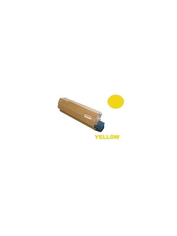 OKI C2032 YELLOW - Producto fabricado en la Unión Europea.  El material utilizado para la fabricación de este cartucho, es de la marca Mitsubishi y tiene una excelente calidad de impresión. Se garantiza la durabilidad y protección tanto de la impresora como del tambor (Drum) Este producto tiene una garantía total de 2 años.   Cartucho remanufacturado alta capacidad 5.000 páginas con una cobertura por página de 5%. Cartucho toner reciclado - compatible para uso en impresoras OKI C2032 YELLOW